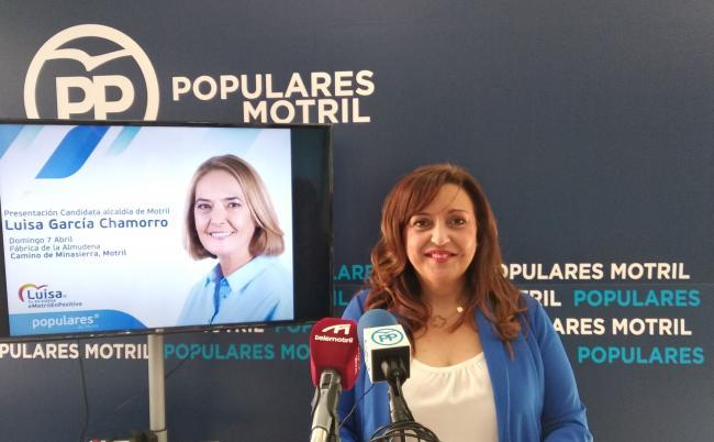 """Ángeles López: """"Con el Partido Popular vamos a seguir construyendo  un Motril mejor junto a Luisa García Chamorro,  para que nuestra ciudad continúe avanzando y afianzando políticas sólidas, rigurosas,  prósperas y con garantías por un futuro mejor para todos, #PorUnMotrilDe10"""", #LuisaTuAlcaldesa."""