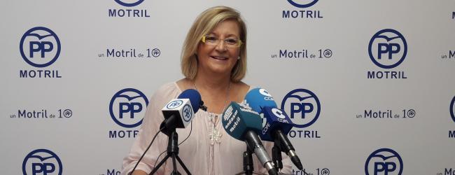 """Inmaculada Torres: """"los motrileños merecen un gobierno responsable, demandan lealtad, respeto y compromiso, con lo prometido,  y tenemos que decir, que siendo muy generosos el PSOE no ha cumplido ni un 1% de su programa electoral."""