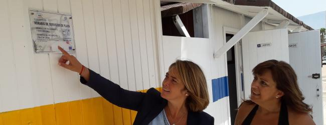 """García Chamorro: """"Corremos el riesgo de perder la bandera azul por primera vez en la historia por  la falta de previsión de Almón y no haber hecho los deberes en tiempo y forma,  así es muy difícil competir con otros municipios de la Costa en uno de nuestros mayores potenciales que es el turismo de sol y de playa""""."""
